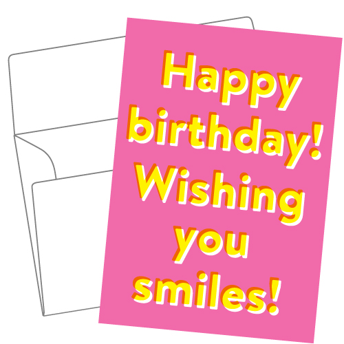 Lithography greeting card 13 Pink birthday