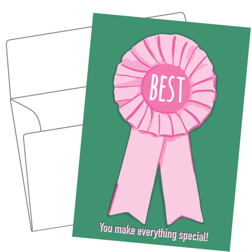 Lithography greeting card 15 Best ribbon