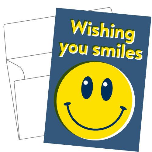 Lithography greeting card 16 Big smile