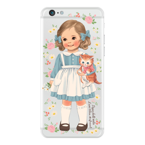 Clear jelly casePaper doll mate_ Alice/ flower