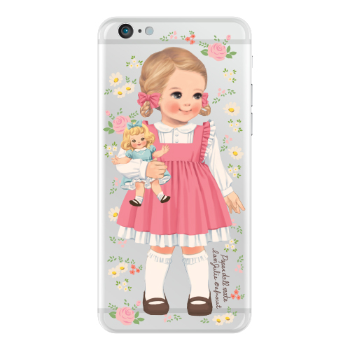 [20%] Clear jelly casePaper doll mate_Julie/ flower