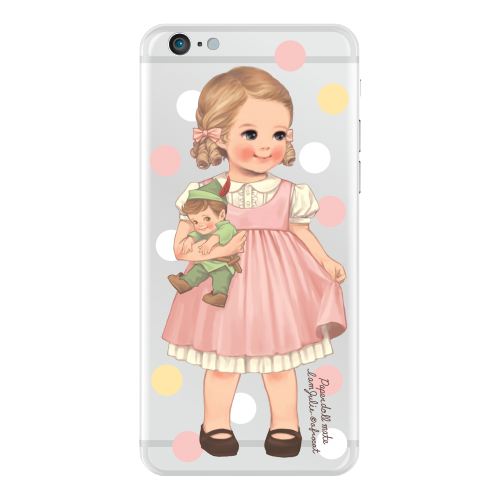 Clear jelly casePaper doll mate_ Julie/ dot