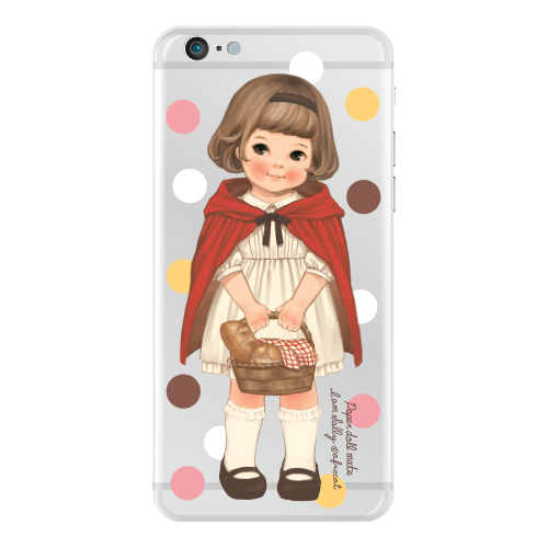 [20%] Clear jelly casePaper doll mate_ Sally/ dot