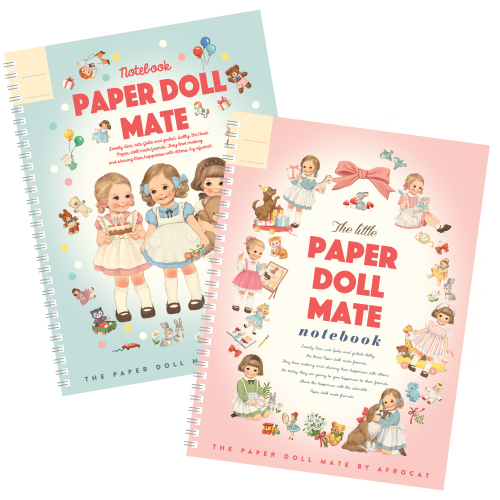 paper doll mate spring notebook