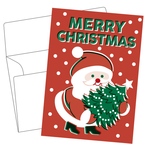 Lithography greeting card 23 Santa Claus