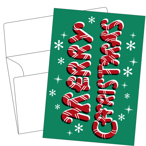Lithography greeting card 24 Christmas candy