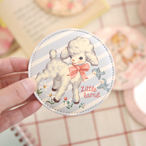 paper doll mate pocket mirror_Lamb