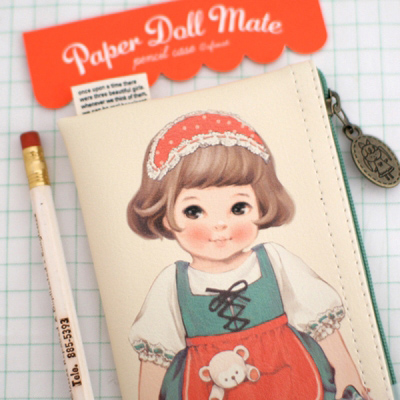 paper doll matepencil case1_Sally