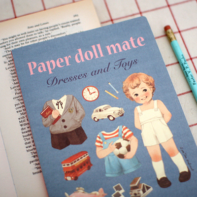 paper doll mate notebook_Tom ver