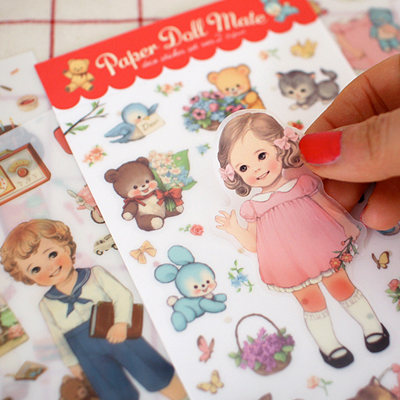 [sold out]  paper doll mate sticker 2 (투명)