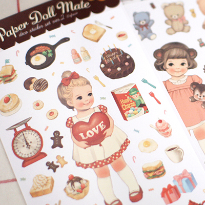 paper doll mate paper sticker 2(종이)