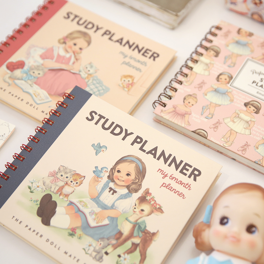 paper doll matestudy planner 2