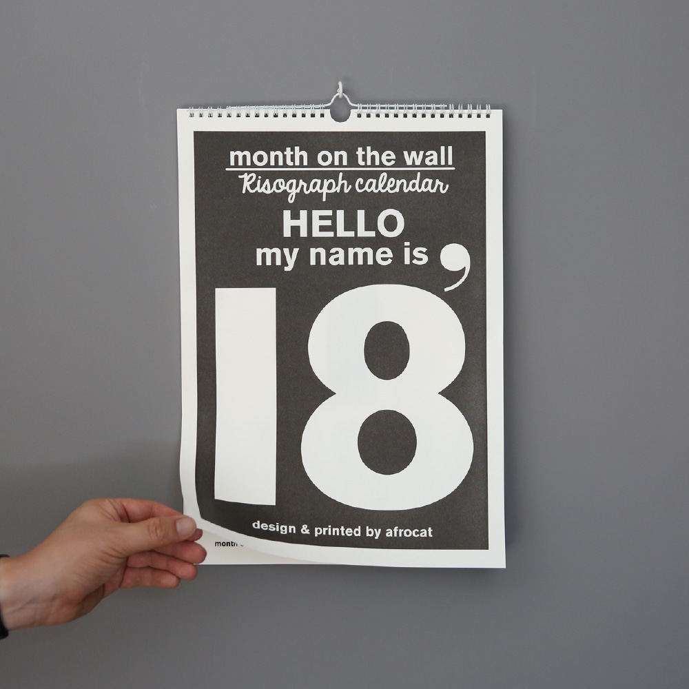 2018  Month on the wall - type A
