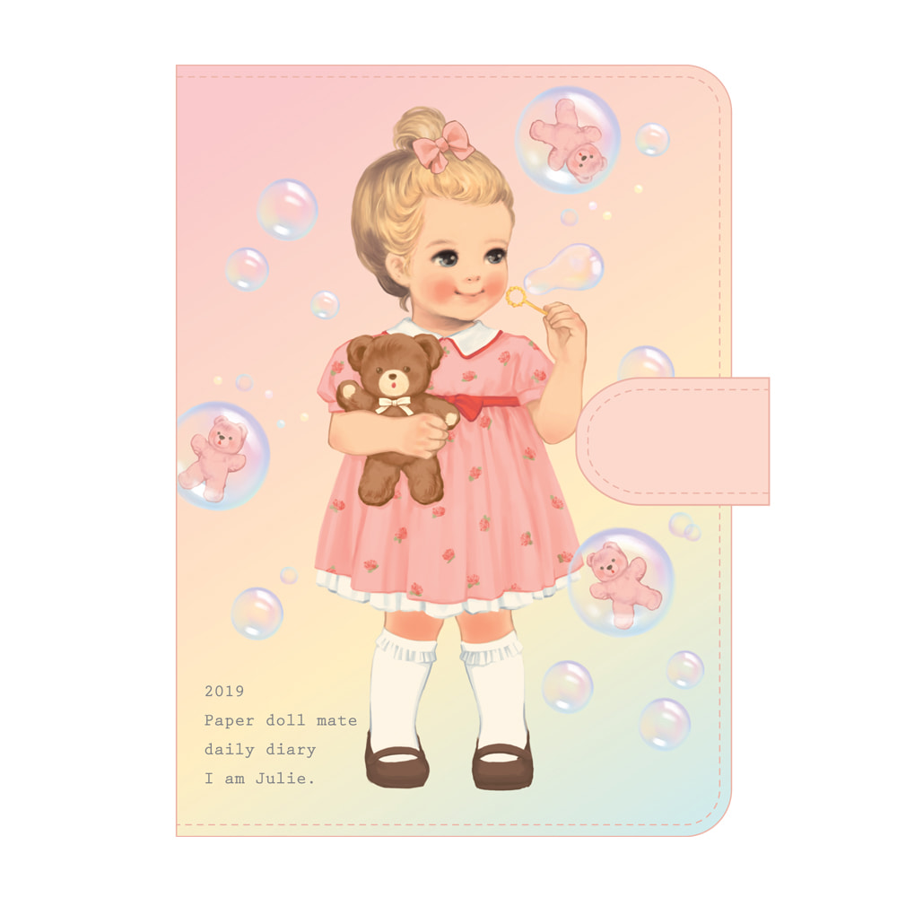 Paper doll mate daily diary 2019_ Julie