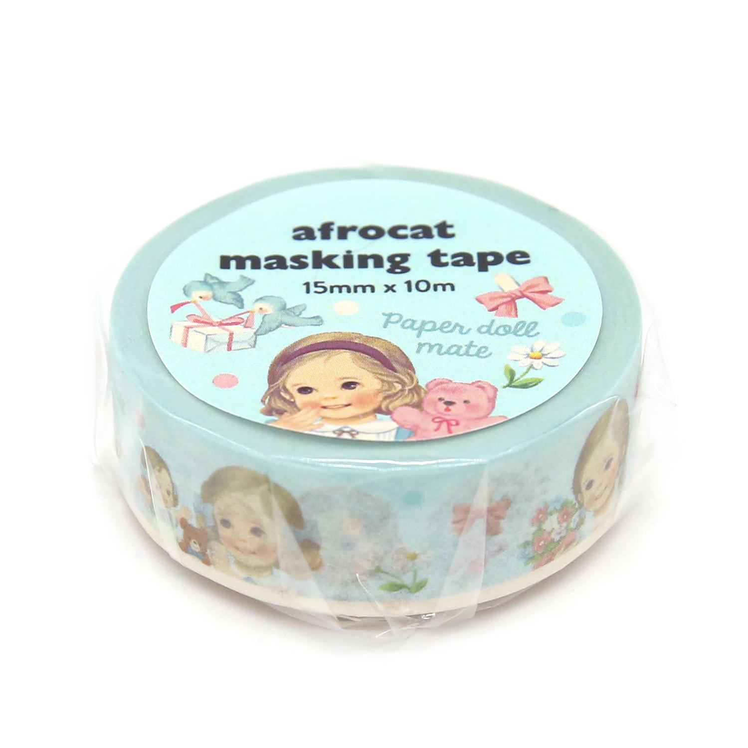 [afrocat masking tape] 1. Paper doll mate_ alice 15mm