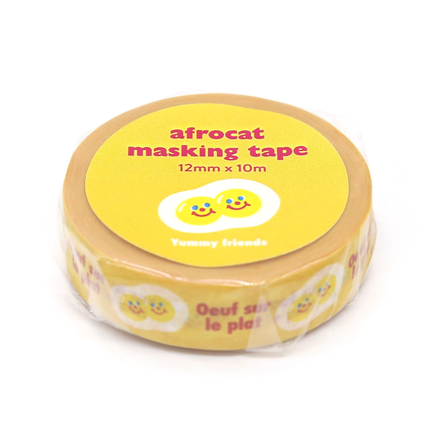 [afrocat masking tape] 14. Yammy friends _sunny side-up eggs 12mm