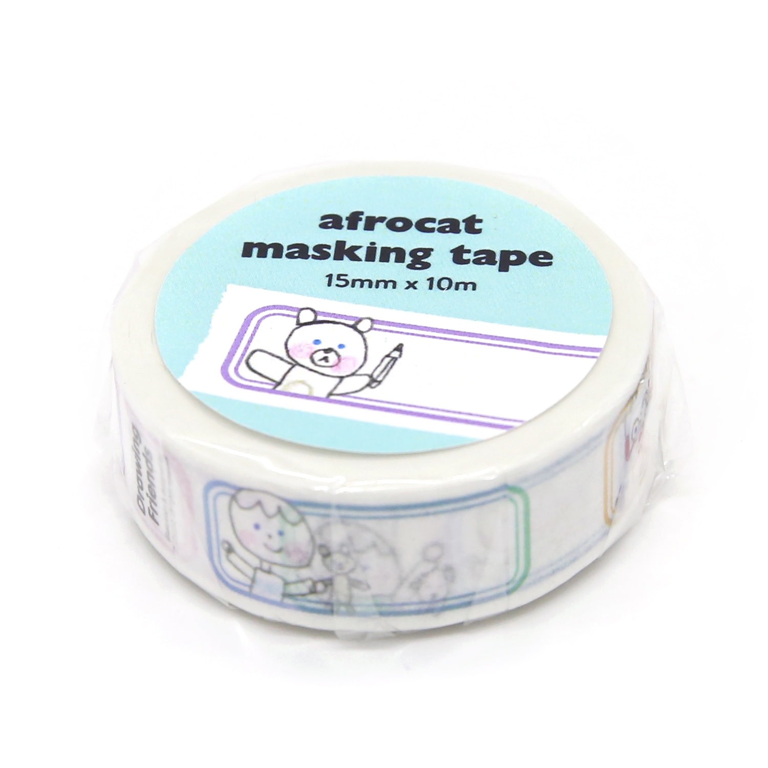 [afrocat masking tape] 8. Drawing friends_name label 15mm